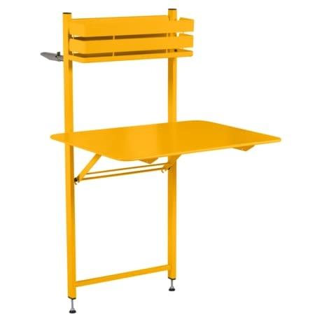 petite table metal, table balcon, table bistro balcon, petite table pliante, table jaune
