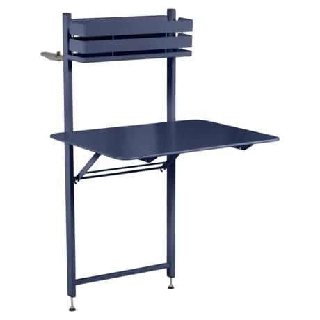 petite table metal, table balcon, table bistro balcon, petite table pliante, table bleu
