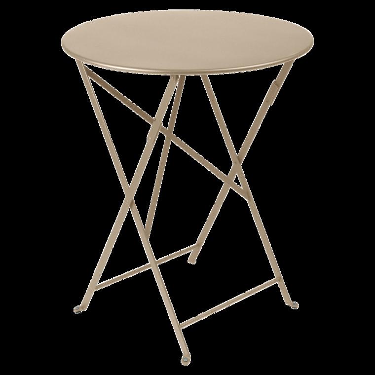 Table Bistro ronde 60 cm, table de jardin, table ronde jardin