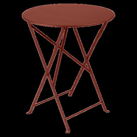 Table Ø 60 cm bistro ocre rouge