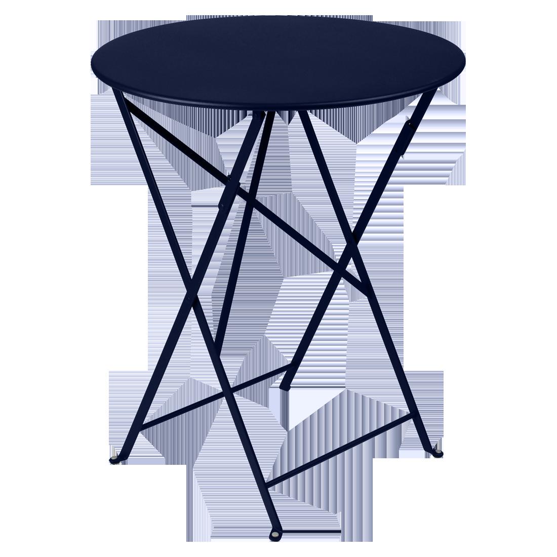 petite table metal, table de jardin fermob, table bistro, petite table pliante, table bleu