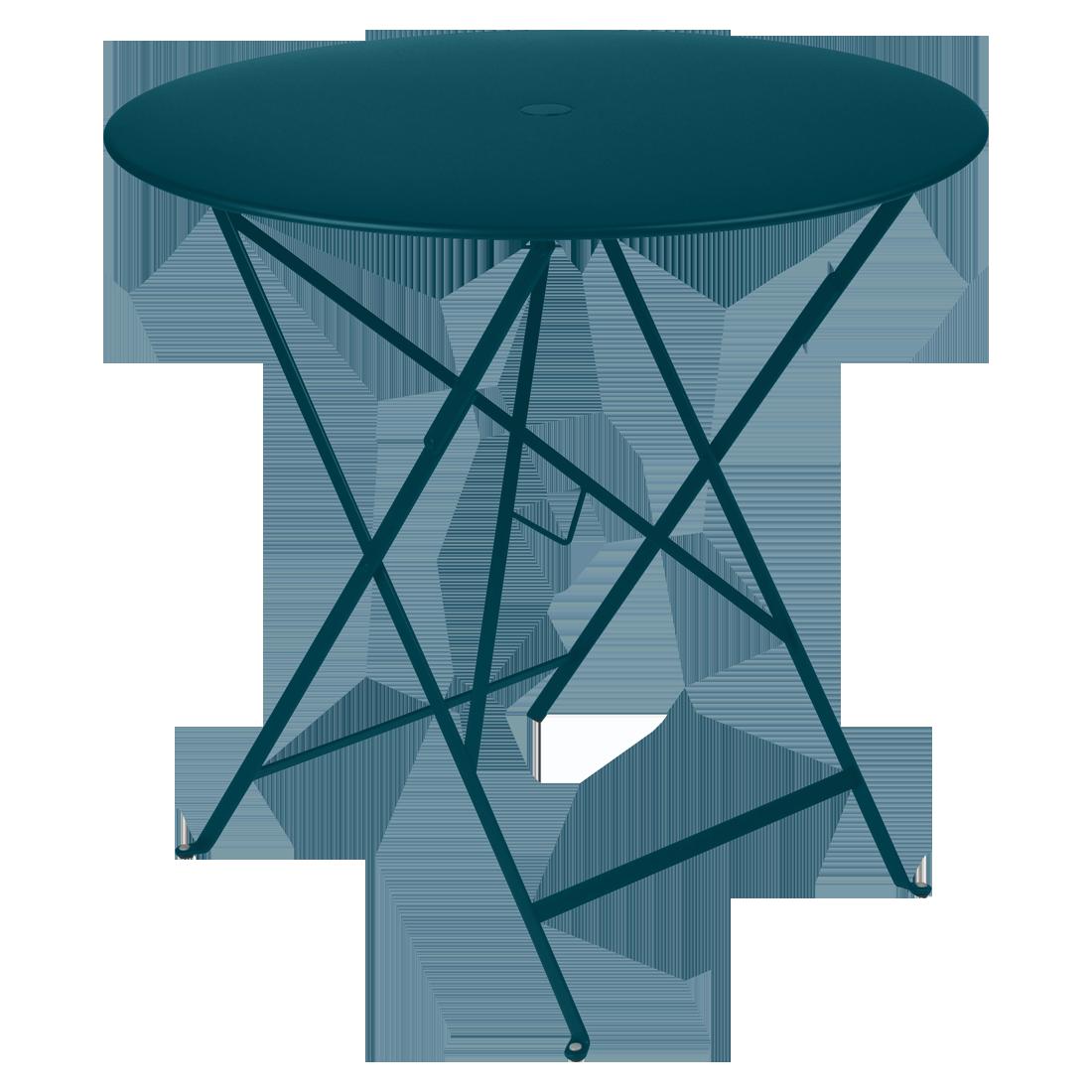 Table Ø 77 cm bistro bleu acpulco