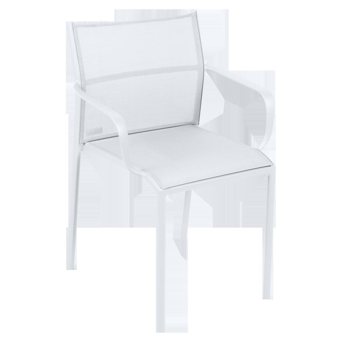 chaise bridge de jardin, chaise bridge en métal et toile blanc coton
