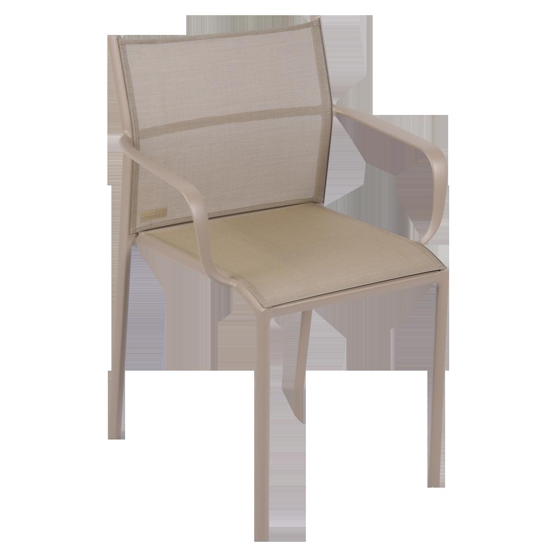 chaise bridge de jardin, chaise bridge en métal et toile muscade