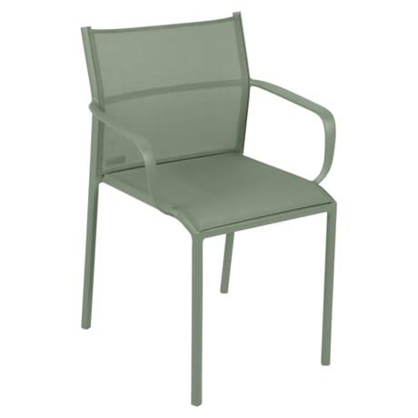 chaise bridge de jardin, chaise bridge en métal et toile cactus