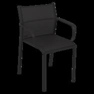 chaise bridge de jardin, chaise bridge en métal et toile noir