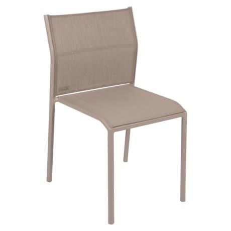chaise de jardin, chaise en métal et toile muscade