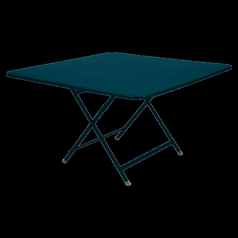 Table 128 x 128 cm caractère bleu acapulco