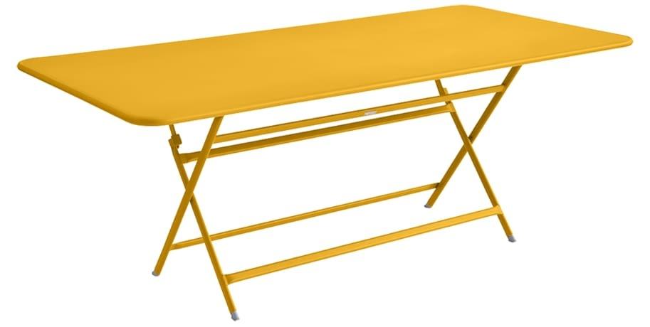table de jardin jaune