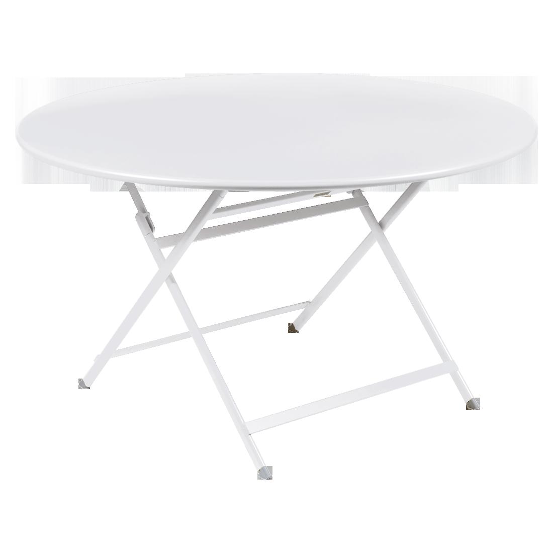 table de jardin pliante, table metal ronde, table metal 7 personnes, table de jardin blanche, table metal blanche