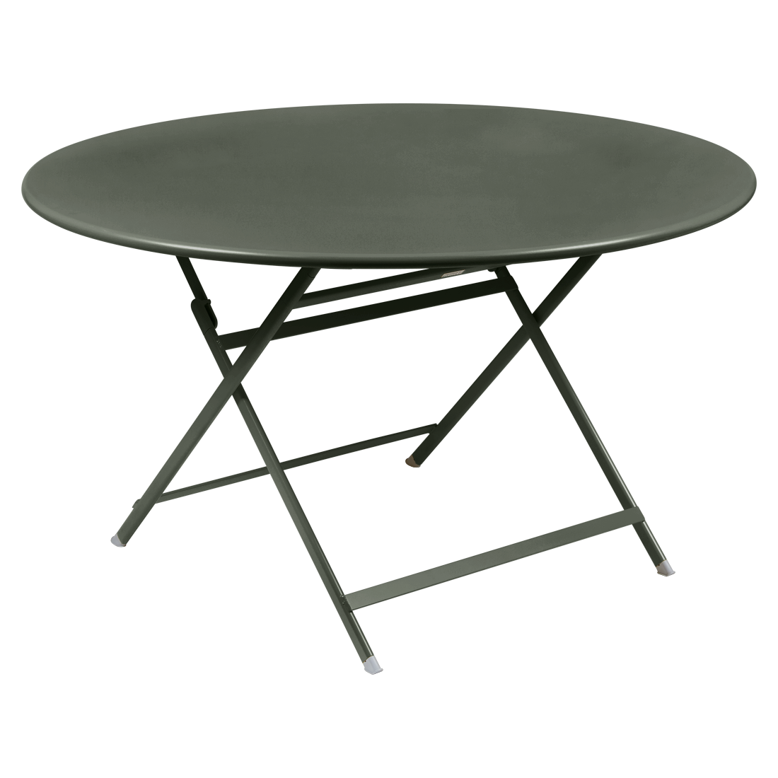 table de jardin pliante, table metal ronde, table metal 7 personnes, table de jardin verte, table metal verte