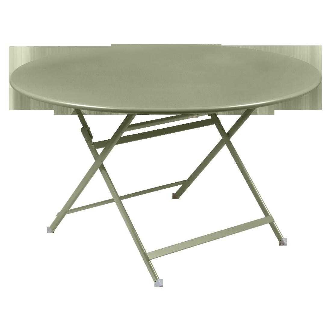 table de jardin pliante, table metal ronde, table metal 7 personnes, table de jardin verte, table metal verte