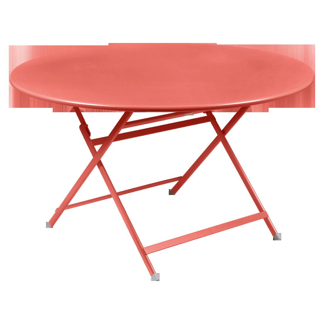 table de jardin pliante, table metal ronde, table metal 7 personnes, table de jardin rose, table metal rose