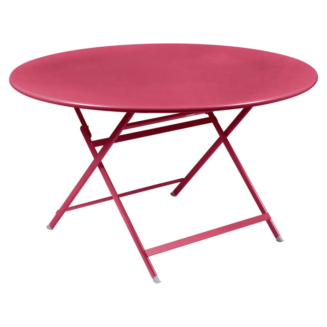 table de jardin pliante, table metal ronde, table metal 7 personnes, table de jardin rose, table metal rose
