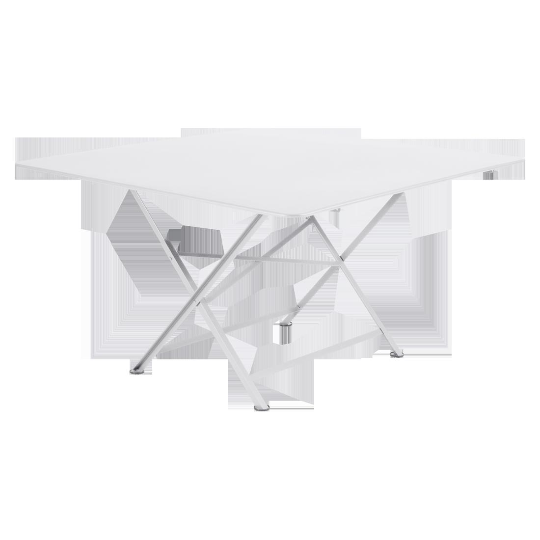 table de jardin pliante, table metal carree, table metal 8 personnes, table de jardin blanche, table metal blanche