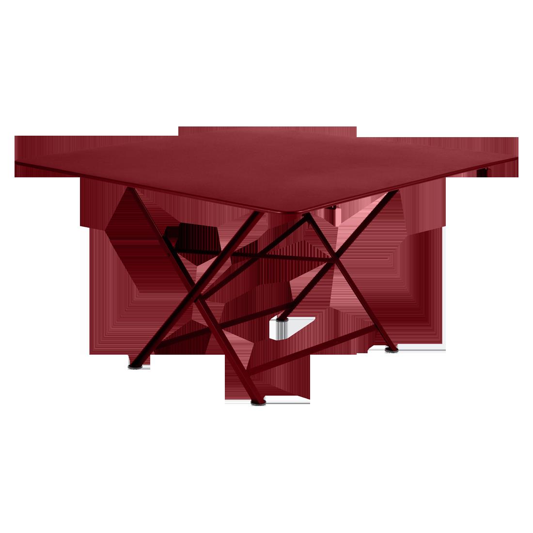 Collection Cargo - Fermob - table de jardin carrée et pliante