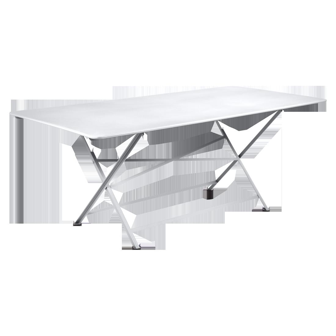 table de jardin, table metal, table de jardin pliante, table metal pliante, table fermob blanche