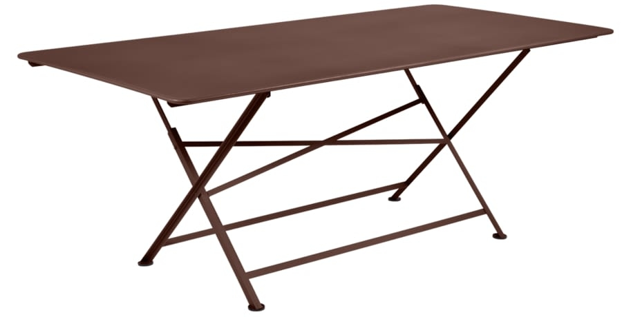 table de jardin, table metal, table de jardin pliante, table metal pliante, table fermob marron