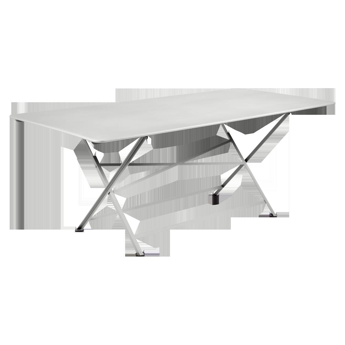 table de jardin, table metal, table de jardin pliante, table metal pliante, table fermob gris