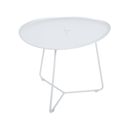 table basse metal, table basse fermob, table basse de jardin, table basse blanche