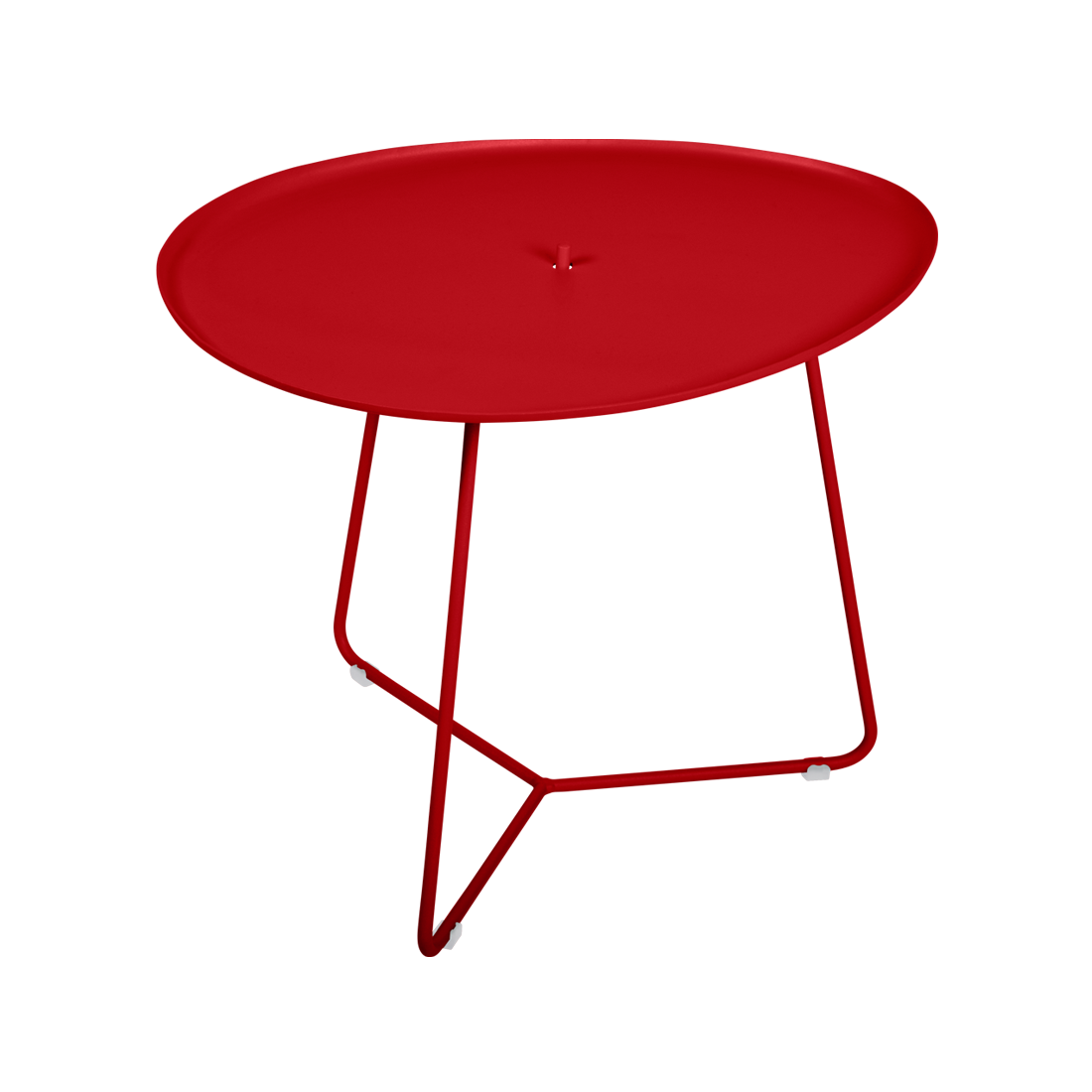 table basse metal, table basse fermob, table basse de jardin, table basse rouge