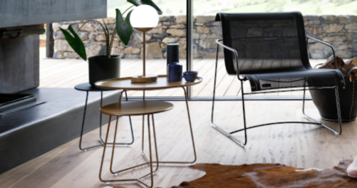 Table d'appoint / Tabouret Bas Gold Fever