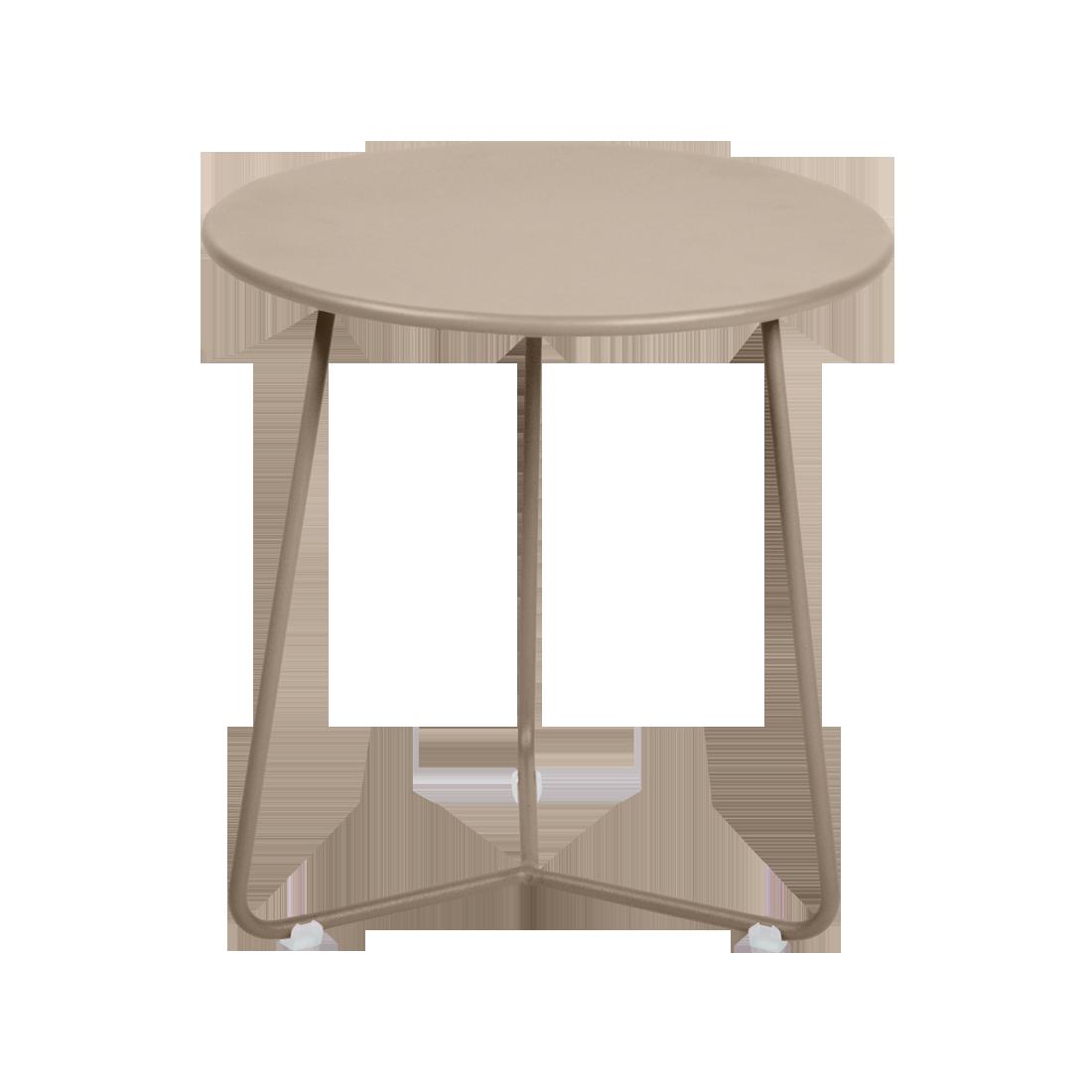 tabouret bas metal, table de chevet, table d appoint, petite table basse beige