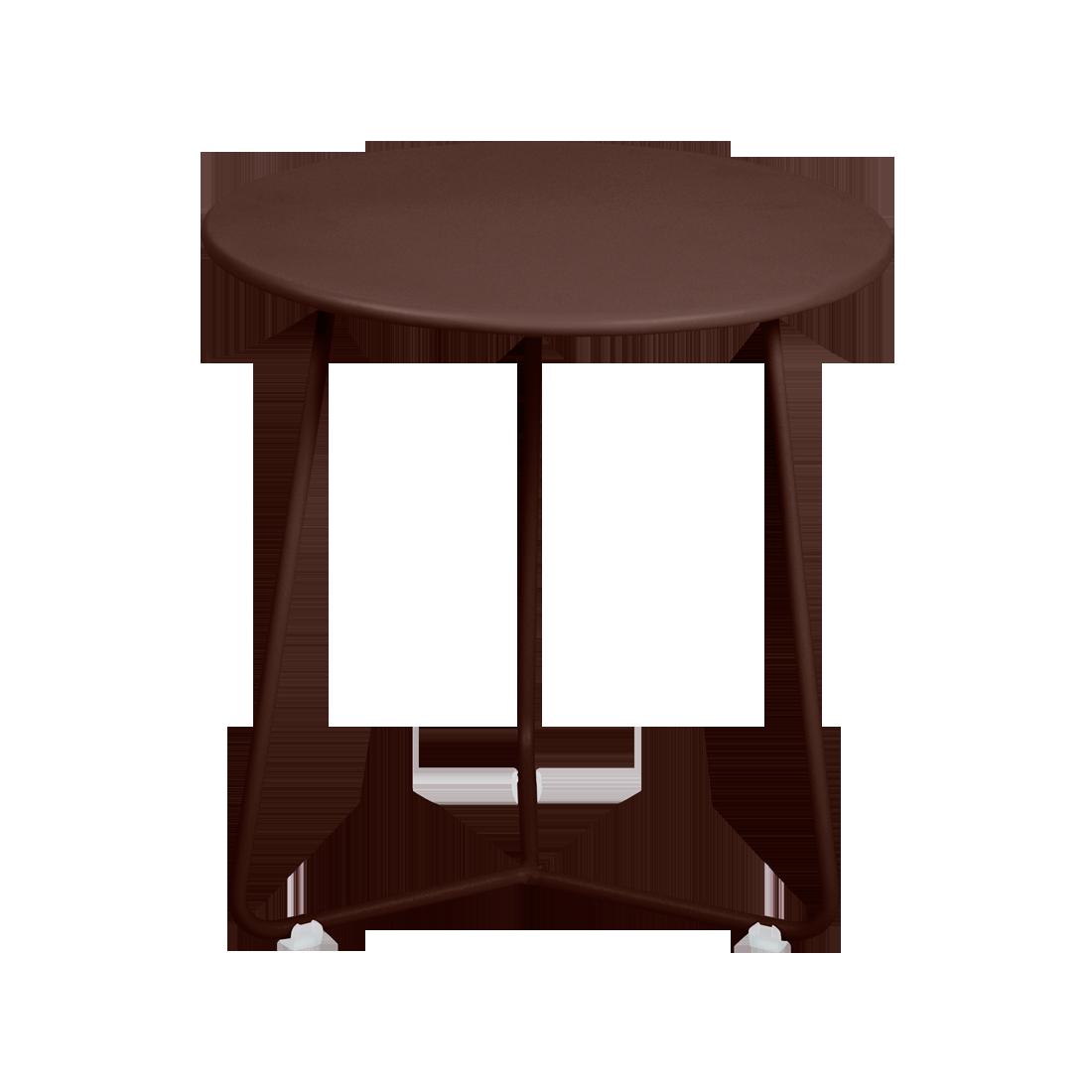 tabouret bas metal, table de chevet, table d appoint, petite table basse marron