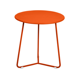 tabouret bas metal, table de chevet, table d appoint, petite table basse orange