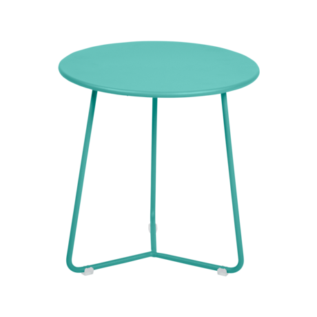 tabouret bas metal, table de chevet, table d appoint, petite table basse bleu