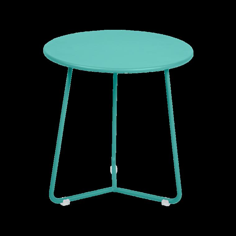 tabouret bas metal, table de chevet, table d appoint, petite table basse bleu