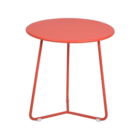 tabouret bas metal, table de chevet, table d appoint, petite table basse orange