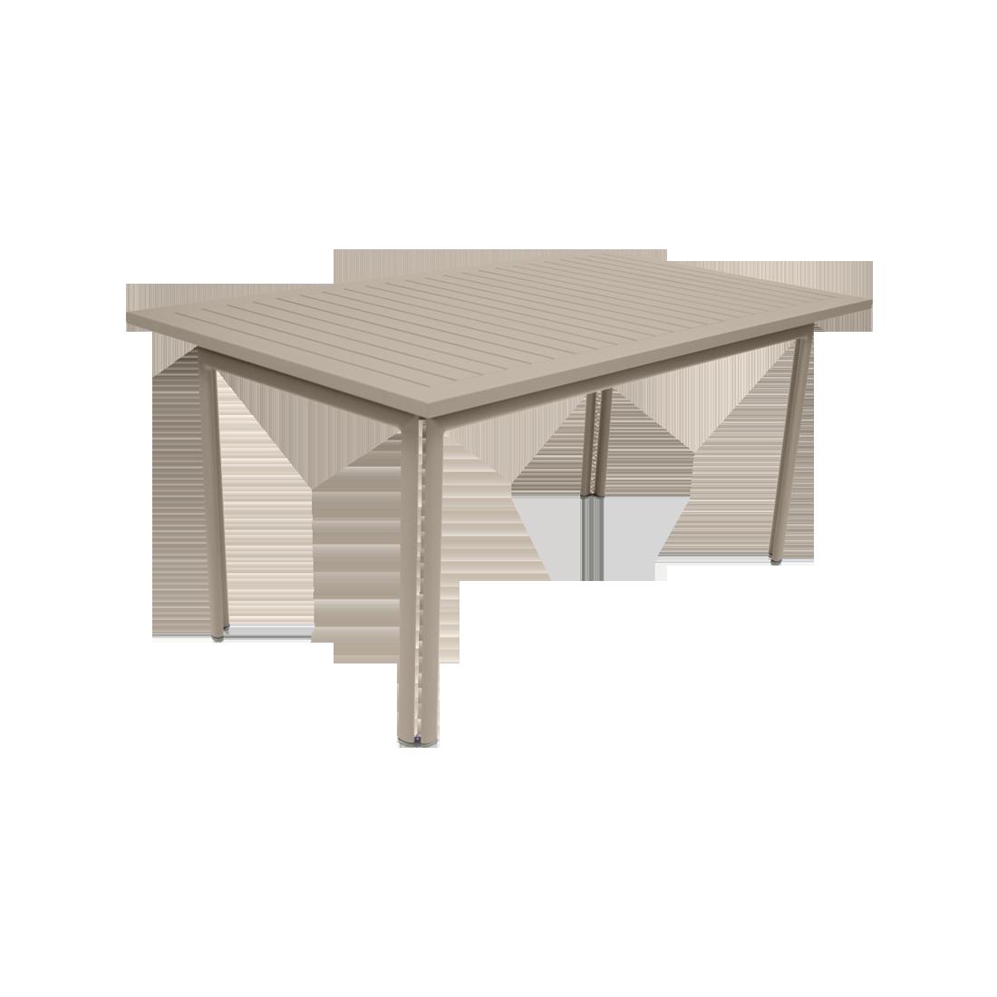 table metal, table de jardin, table rectangulaire, table beige, table 8 personnes