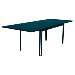 Table à allonge 160/240 x 90 cm costa bleu acapulco