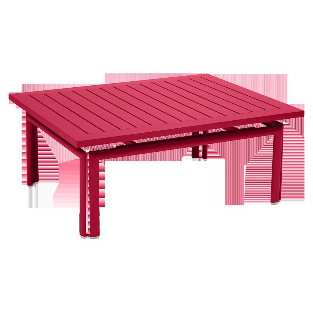 table basse metal, table basse de jardin, table basse rose