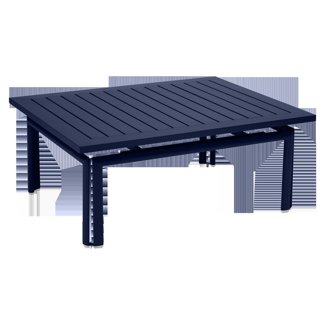 table basse metal, table basse de jardin, table basse bleu