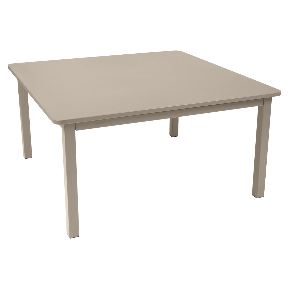table metal, table de jardin, table carree, table beige, table 8 personnes