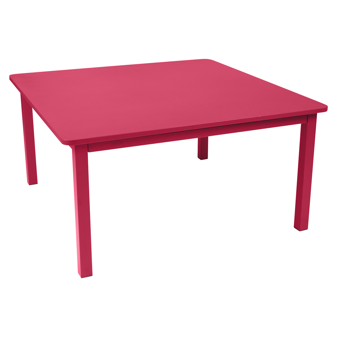 table metal, table de jardin, table carree, table rose, table 8 personnes