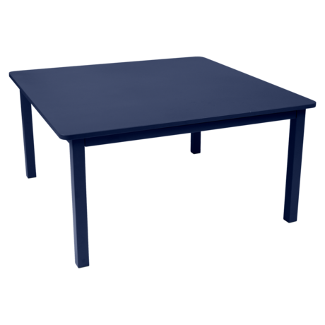 table de jardin, table metal, table carre, table 8 personnes, table bleu