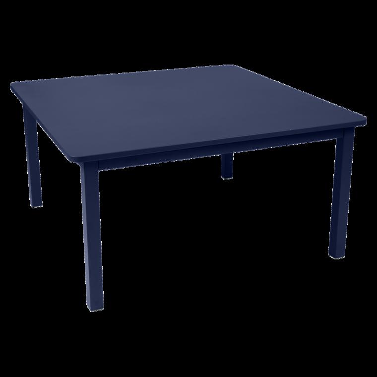 table de jardin, table metal, table carre, table 8 personnes, table bleu