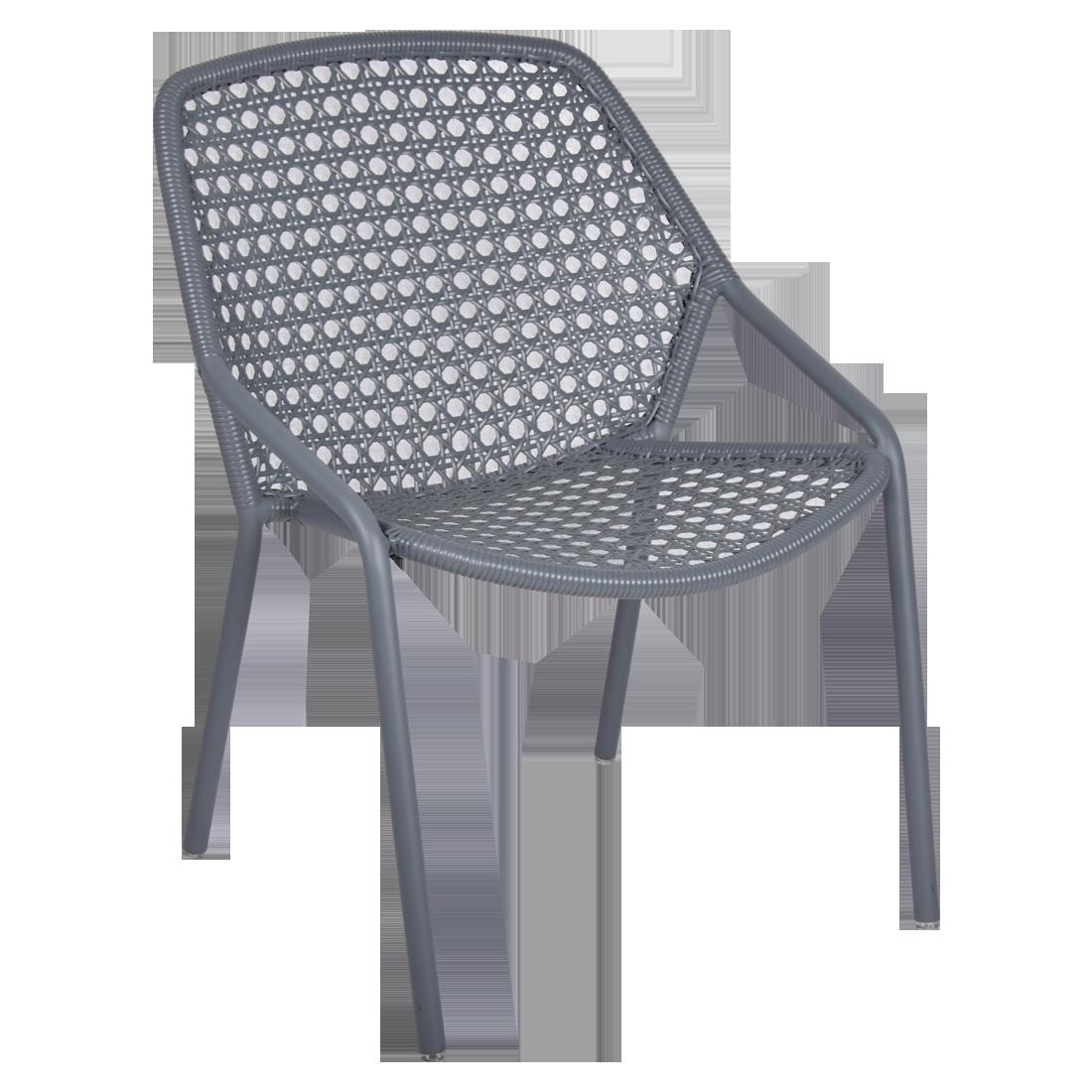fauteuil de jardin, fauteuil fermob, fauteuil gris