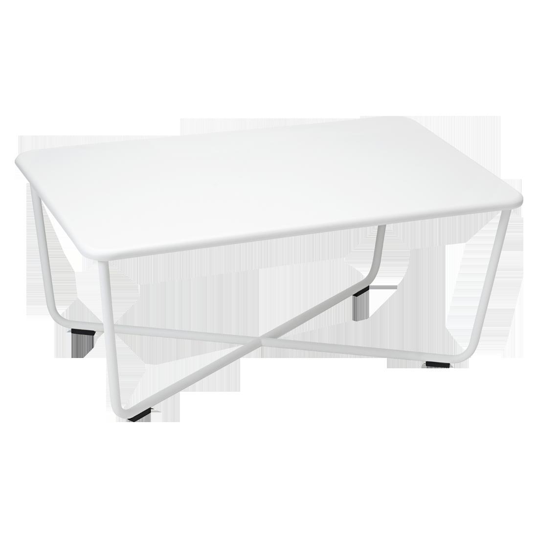 table basse metal, table basse de jardin, table basse blanche