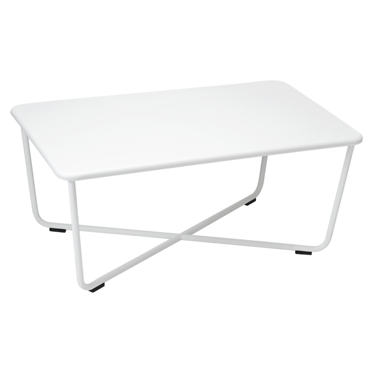Croisette low table, metal table for outdoor living space