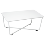 table basse metal, table basse de jardin, table basse blanche
