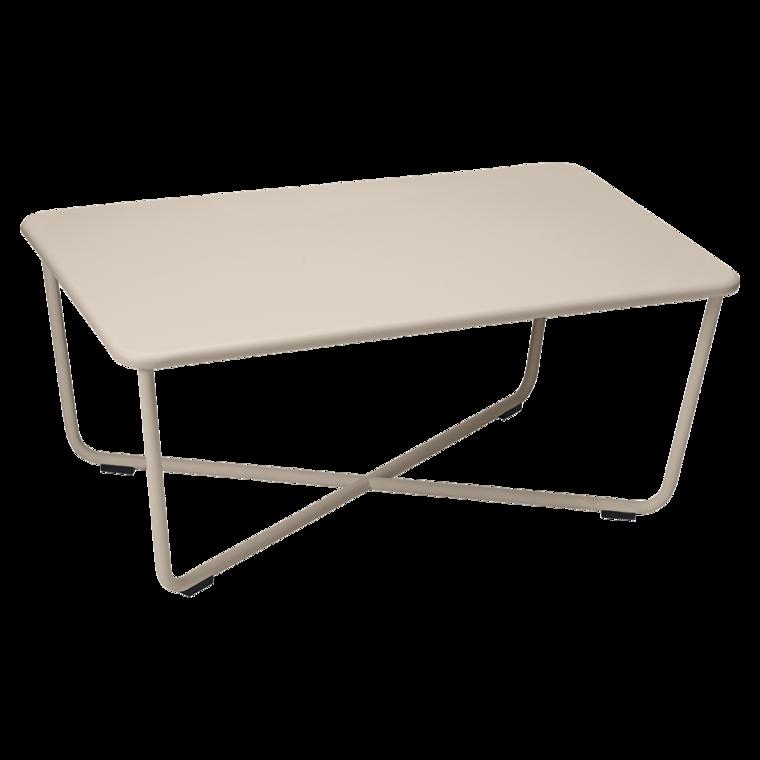 Table basse Croisette, table basse en métal pour salon de jardin