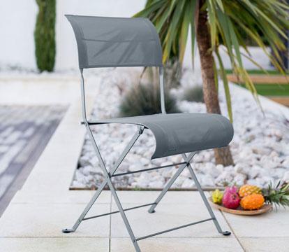 chaise de jardin en toile, mobilier de jardin, chaise de jardin pliante