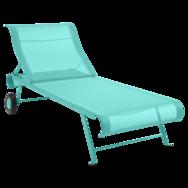 bain de soleil en toile, chaise longue en toile, chaise longue bleu, chaise longue pliante