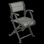 fauteuil de jardin en toile vert