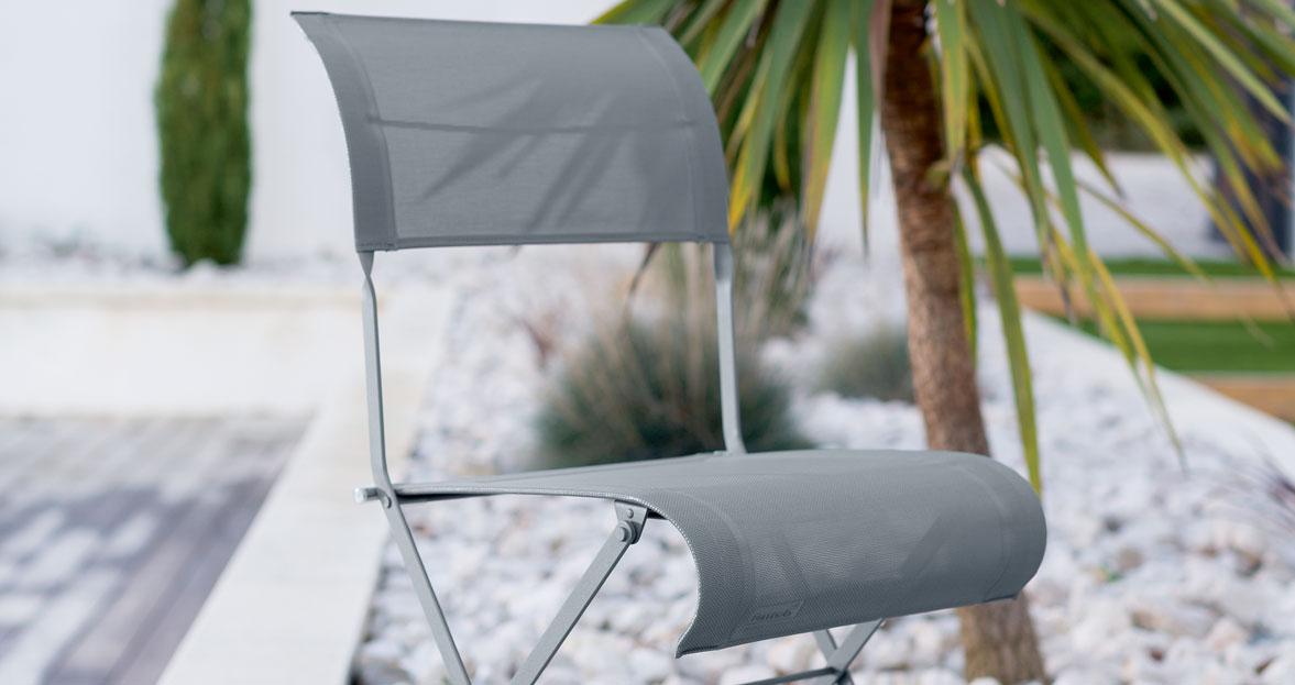 chaise de jardin, chaise en toile d'extérieur