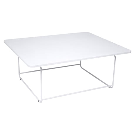 table basse metal, table basse de jardin, table basse blanche, table basse design